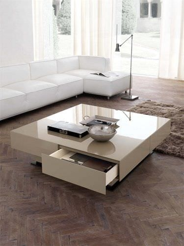 Contemporary Coffee Table / Lacquered Wood / With Storage For Casablanca Coffee Tables (View 30 of 40)