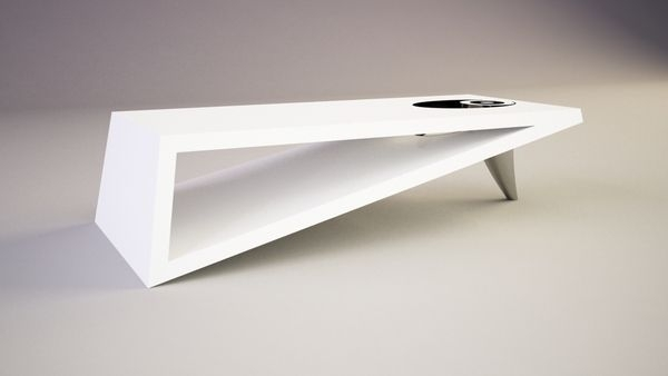 Contemporary Coffee Tables | Modern Triangle Coffee Table Orea Regarding Inverted Triangle Coffee Tables (View 6 of 40)