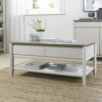 Contemporary Coffee Tables | Oak & Glass Coffee Tables On Sale Pertaining To White Wash 2 Drawer/1 Door Coffee Tables (Image 22 of 40)