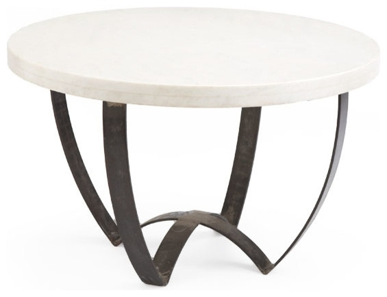 Cool Modern Marble Coffee Tables Designs In Modern Marble Iron Coffee Tables (Image 10 of 40)