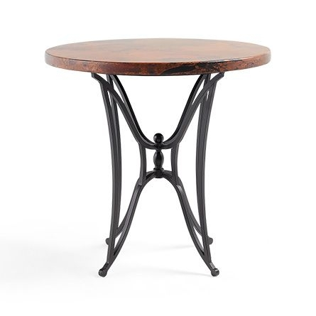 "Copper 38"" Round Table Top With Kenya Counter Base 