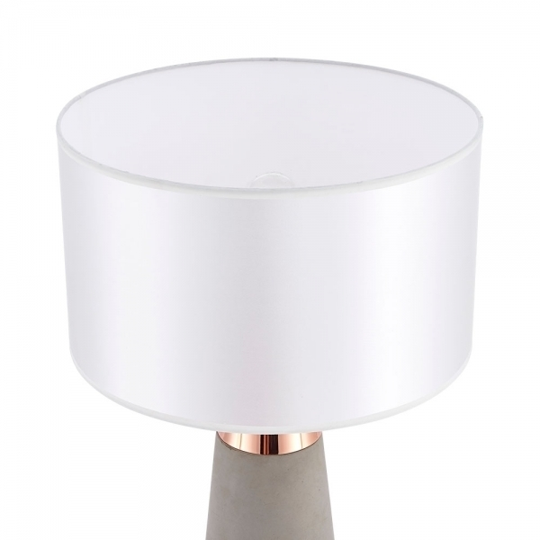 Copper Ashburn Concrete Table Lamp | Contemporary Lighting Regarding Ashburn Cocktail Tables (Image 21 of 40)