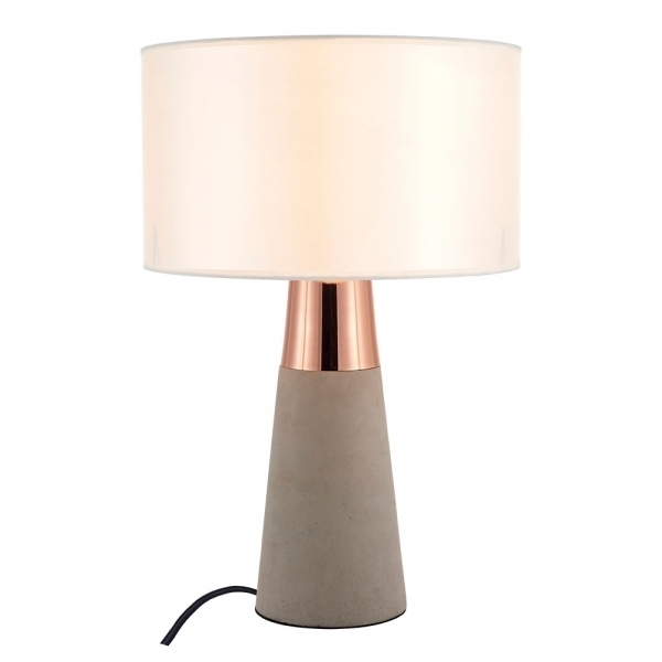 Copper Ashburn Concrete Table Lamp | Contemporary Lighting With Regard To Ashburn Cocktail Tables (Image 22 of 40)