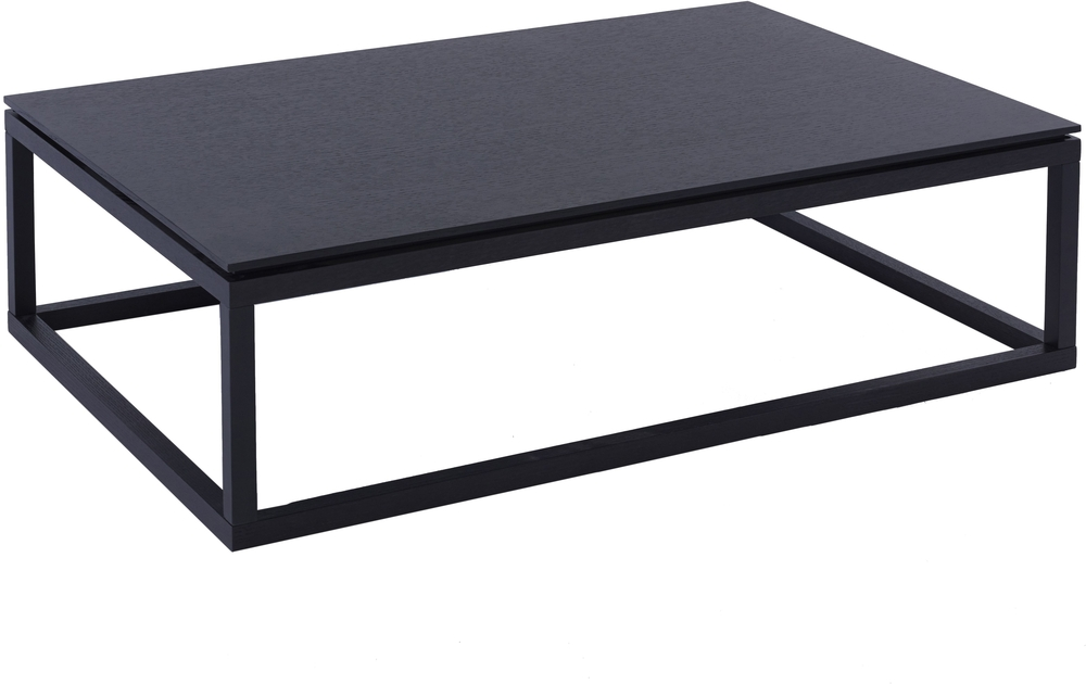 Cordoba Rectangular Coffee Table Modern Black Wenge Finish | Coffee Pertaining To Kai Small Coffee Tables (Image 19 of 40)