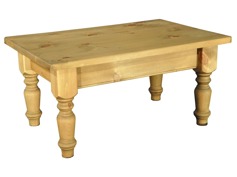 Country Living 3 X 2 Farmhouse Coffee Table – Lpc Furniture Within Natural Pine Coffee Tables (Image 11 of 40)