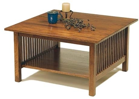 Craftsman Collection Of Stickley Mission Style Furniture Throughout Craftsman Cocktail Tables (Image 19 of 40)