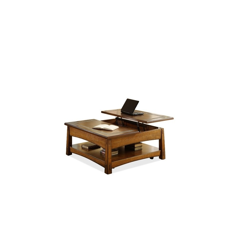 Craftsman Home Square Lift Top Coffee Table – Eaton Hometowne Intended For Craftsman Cocktail Tables (Image 21 of 40)