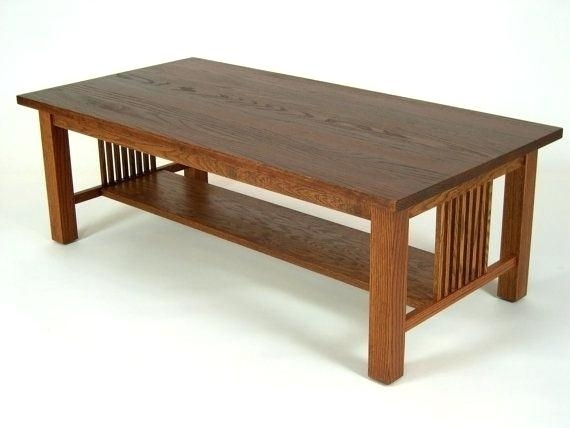 Craftsman Style Coffee Table Mission Oak Arts Crafts Style Coffee Intended For Craftsman Cocktail Tables (Image 22 of 40)
