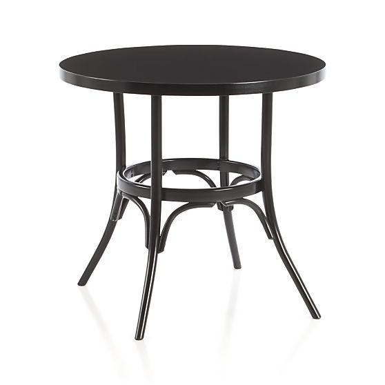 Crate And Barrel Bistro Table Crate And Barrel Bistro Table Regarding Flat Black And Cobre Coffee Tables (Image 13 of 40)