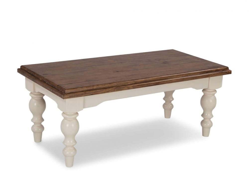 Cream Reclaimed Pine Coffee Table – Villa Roma – Ez Living Furniture For Reclaimed Pine Coffee Tables (View 9 of 40)