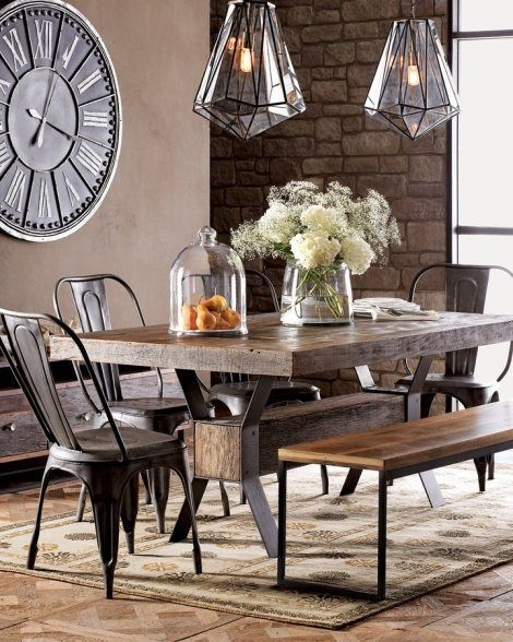 Create A Warm Industrial Living Space | Dining Rooms | Pinterest With 33 Inch Industrial Round Tables (Image 9 of 40)