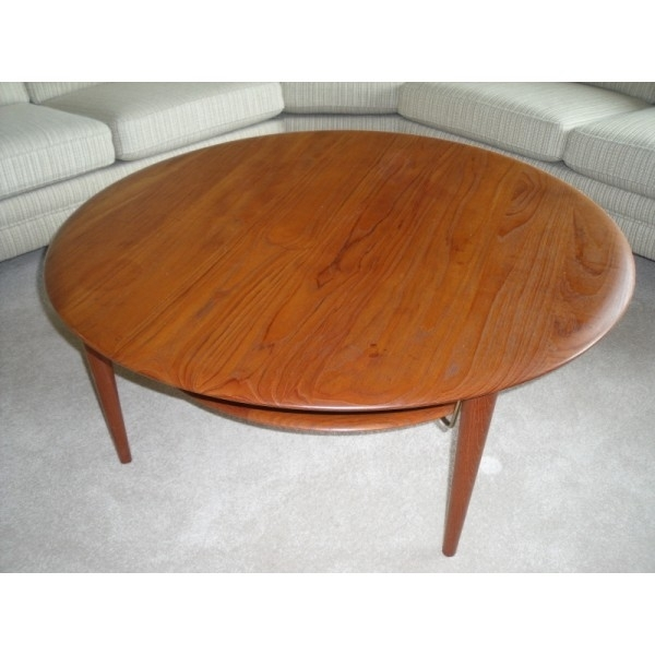 Creative Of Round Teak Coffee Table With Teak Round Coffee Table Intended For Round Teak Coffee Tables (Image 6 of 40)