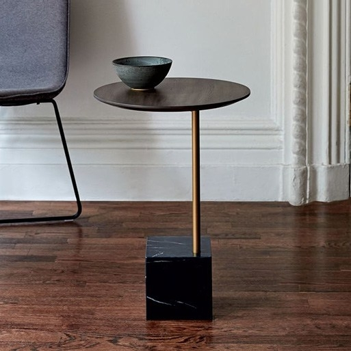 Cube Side Table — Furnishings — Better Living Through Design With Regard To Brass Iron Cube Tables (Image 8 of 40)