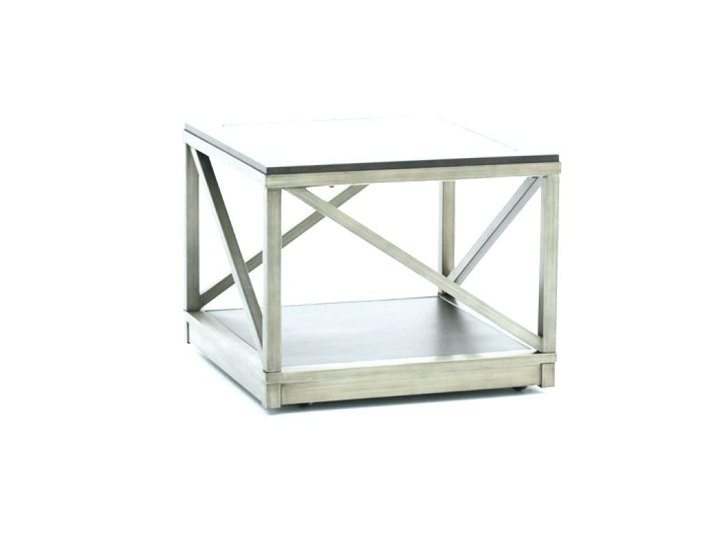 Cube Side Table Storage Or White Tables Glass Coffee And Metal Intended For Brass Iron Cube Tables (Image 9 of 40)