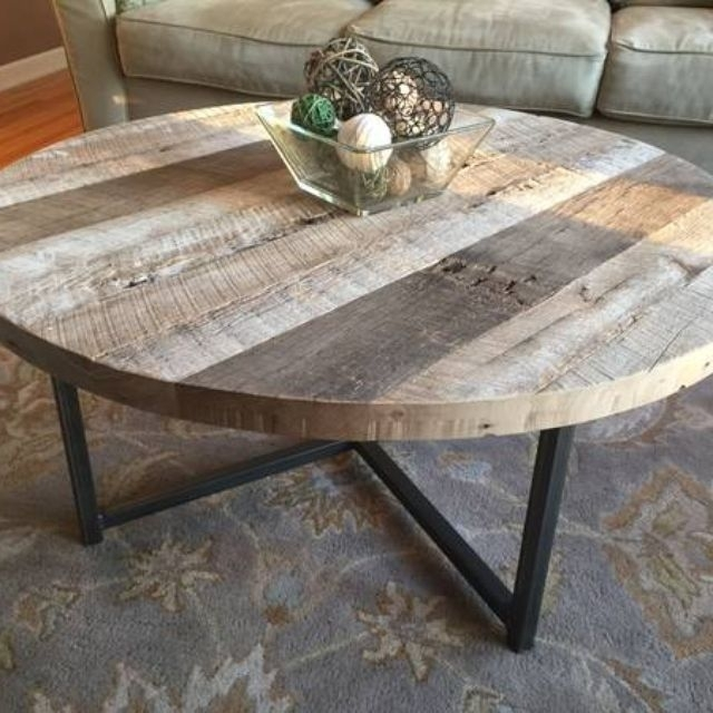 Custom Coffee Tables | Handmade Wood Coffee Tables | Custommade For Reclaimed Elm Iron Coffee Tables (View 4 of 40)