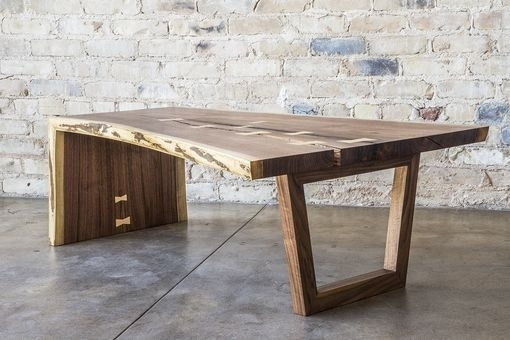 Custom Made Live Edge Walnut Waterfall Coffee Table | Wood Projects Within Waterfall Coffee Tables (Image 8 of 40)