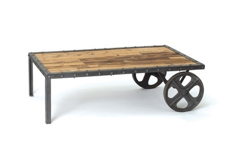 Custom Metal And Wood Furniture At San Diego Rustic Furniture – Made In Iron Wood Coffee Tables With Wheels (View 15 of 40)