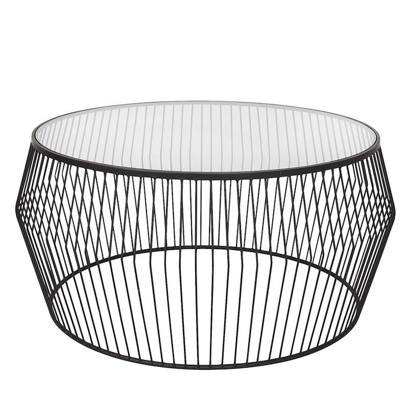 Cyclone Wire Coffee Table – Black | Products | Style In Form Intended For Black Wire Coffee Tables (Image 20 of 40)