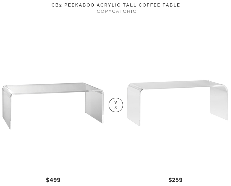 Daily Find | Cb2 Peekaboo Acrylic Tall Coffee Table – Copycatchic Pertaining To Peekaboo Acrylic Coffee Tables (Image 22 of 40)