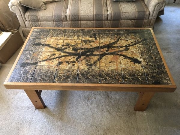 Danish Tiled Large Teak Coffee Table For Sale In Lake Stevens, Wa With Regard To Large Teak Coffee Tables (View 29 of 40)