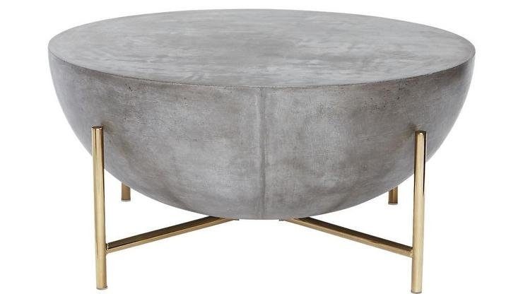 Darbuka Brass Half Sphere Coffee Table For Darbuka Black Coffee Tables (View 2 of 40)