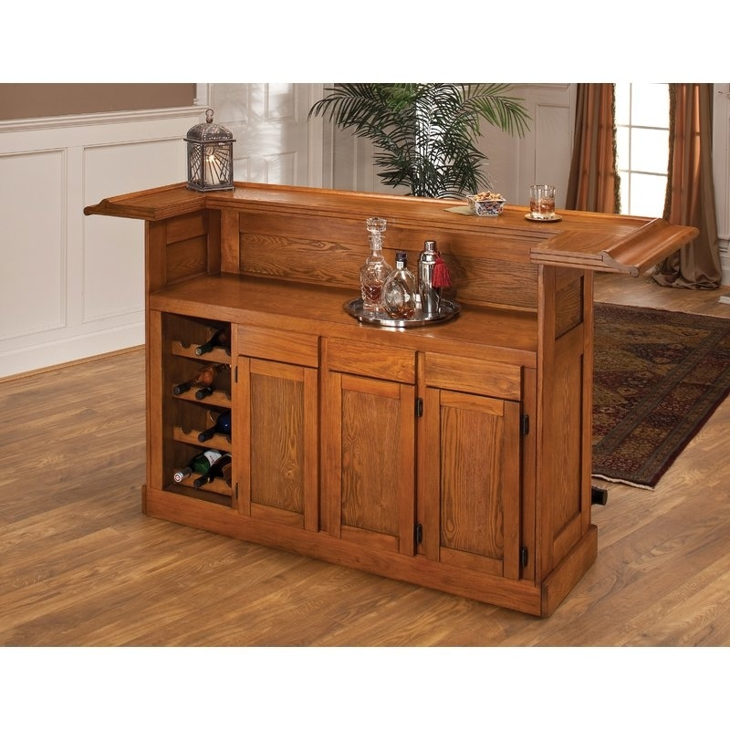 Darby Home Co Potomac Bar With Wine Storage & Reviews | Wayfair Pertaining To Potomac Adjustable Coffee Tables (Image 16 of 40)