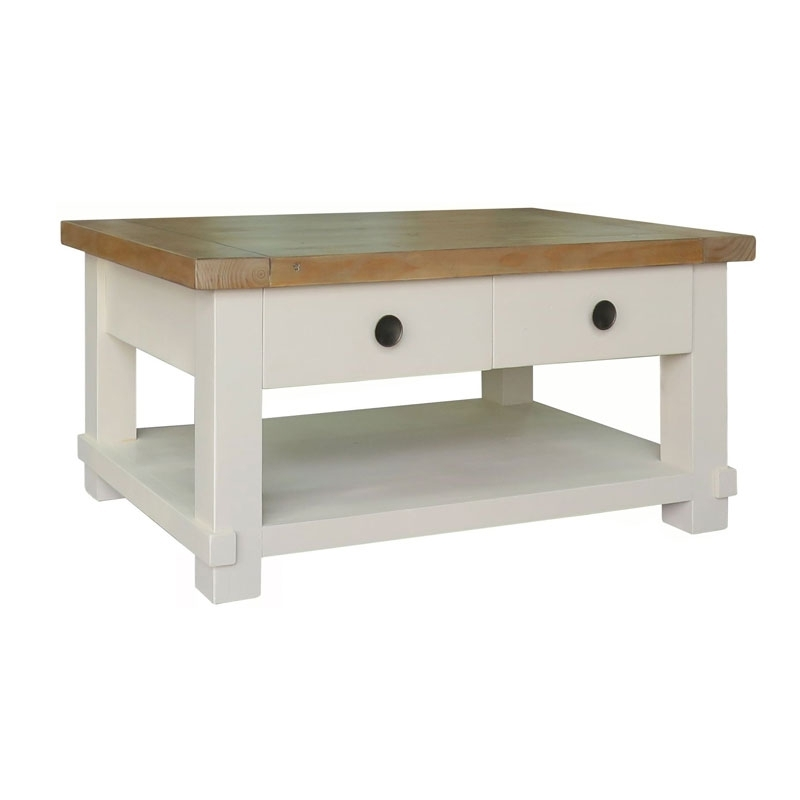 Darwen Furniture & Gifts | Melton Reclaimed Pine Coffee Table With Within Reclaimed Pine Coffee Tables (Image 9 of 40)