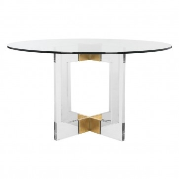 Decor Market – Safavieh Couture Xevera Roung Glass Dining Table With Torrin Round Cocktail Tables (View 28 of 40)