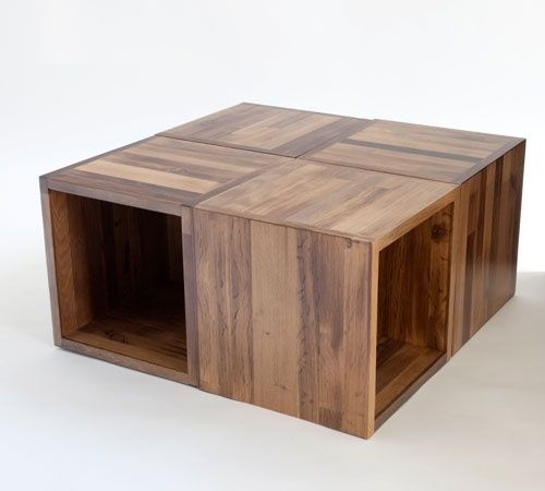Decor Of Modular Coffee Table Cliff Spencer Wine Oak Modular Cube Inside Modular Coffee Tables (Photo 9 of 40)