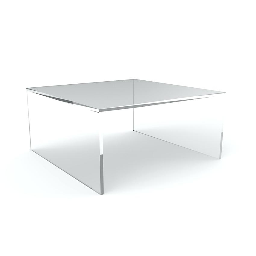 Decoration: Acrylic Furniture Lucite Waterfall Coffee Table Vintage Throughout Square Waterfall Coffee Tables (Photo 9 of 40)
