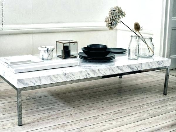 Decoration: Coffee Table Marble Top And Tops Modern White (Image 12 of 40)
