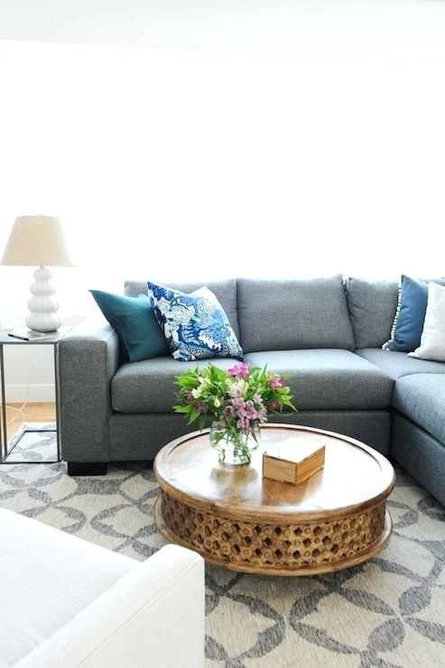 Decoration: West Elm Round Carved Wood Coffee Table From Via Inside Round Carved Wood Coffee Tables (Image 21 of 40)