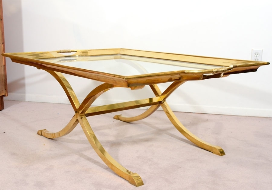Decorative The Most Antique Brass And Glass Coffee Table Intended Within Antique Brass Coffee Tables (View 19 of 40)
