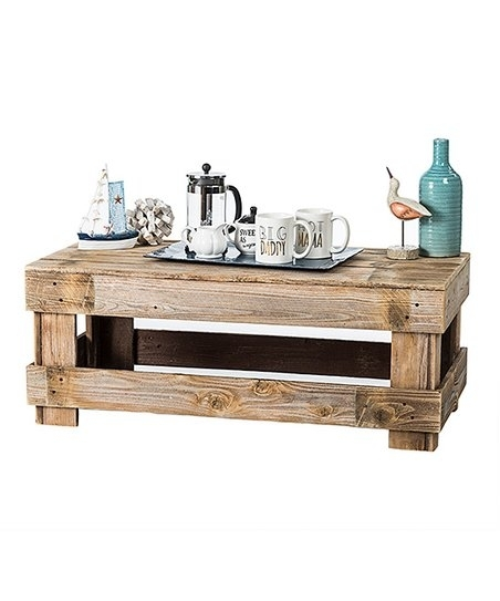 Delhutson Designs Natural Unfinished Pine Wood Coffee Table | Zulily With Natural Pine Coffee Tables (Photo 40 of 40)