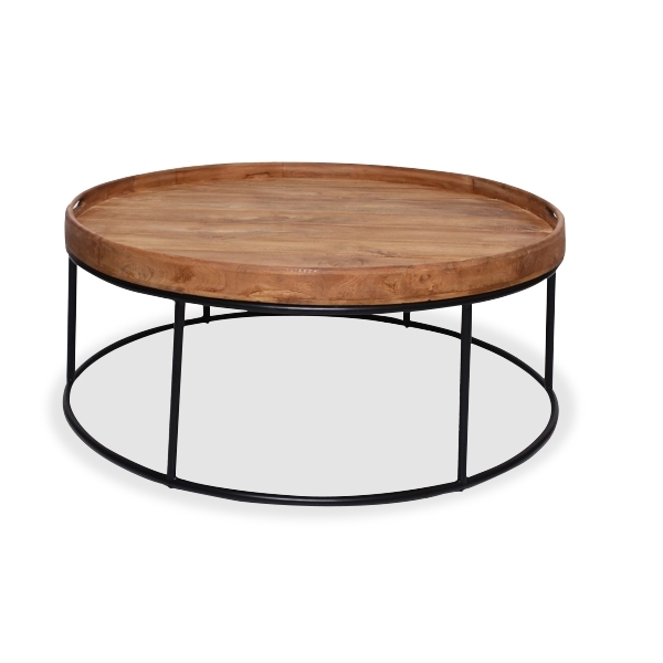 Denver Teak Round Coffee Table Large Inside Large Teak Coffee Tables (View 30 of 40)