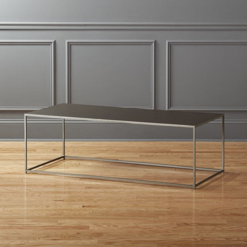 Designer Coffee Tables | Cb2 With Regard To Mill Large Leather Coffee Tables (View 19 of 40)