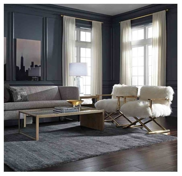 Devon Sofa, Fairbanks Tables & Directoire Chairs – Modern – Living With Shelter Cocktail Tables (Image 11 of 40)