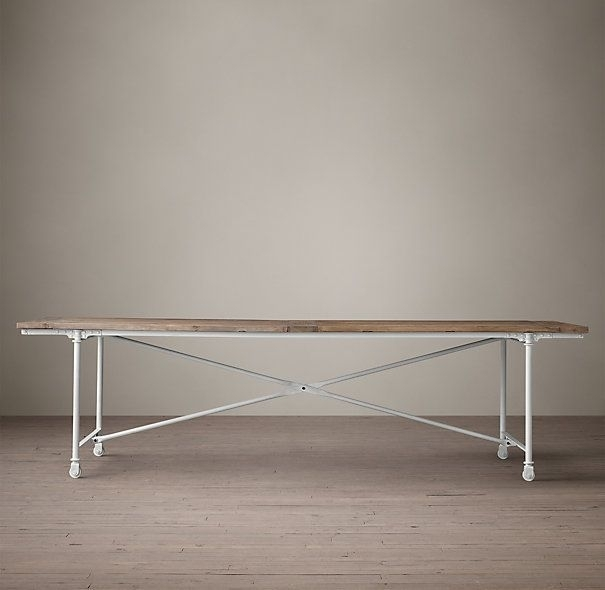 "Dining – Flatiron Rectangular Dining Table – $745 84""l X 39""w X 30""h Regarding Reclaimed Elm Cast Iron Coffee Tables (View 30 of 40)"