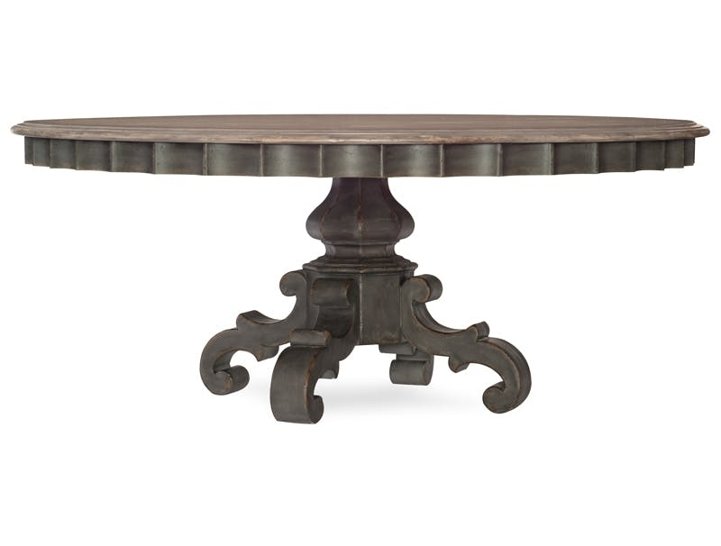 Dining Room Furniture & Accents Pieces | Hooker Furniture Within Round White Wash Brass Painted Coffee Tables (View 13 of 40)