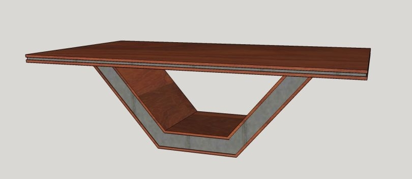 Dining Table Experiment – The Base | Custom Furniture And Cabinetry Within Inverted Triangle Coffee Tables (Photo 13 of 40)