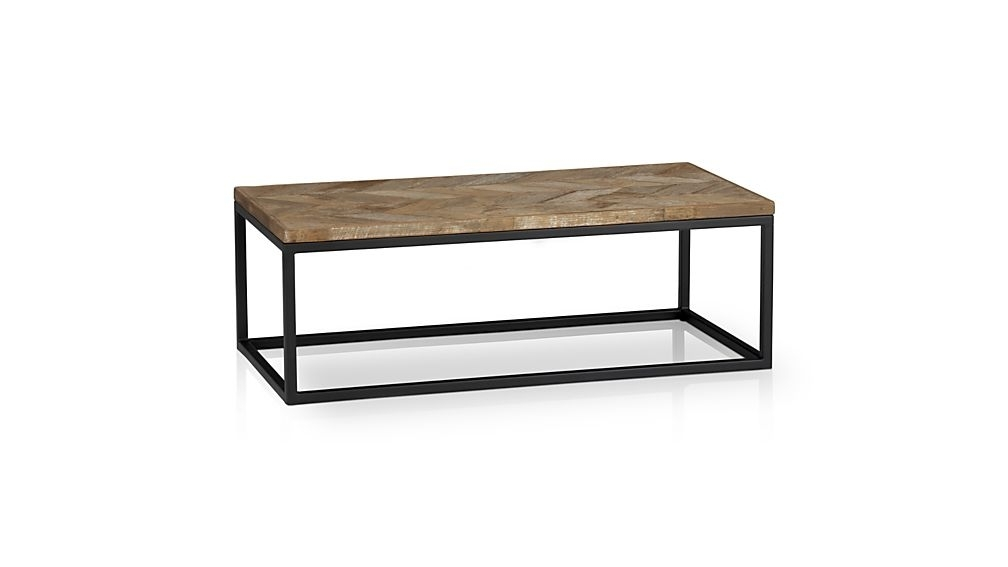 Dixon Coffee Table + Reviews | Crate And Barrel With Iron Wood Coffee Tables With Wheels (View 8 of 40)