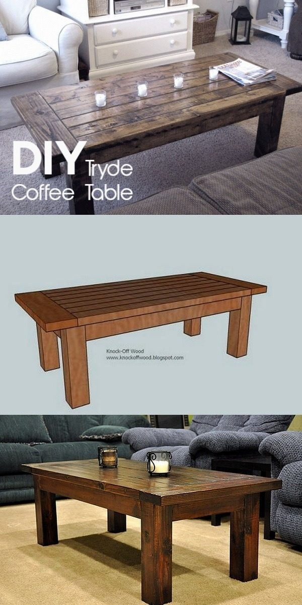 Diy Coffee Table – 40 Easy Ideas You Can Make On A Budget Regarding Jelly Bean Coffee Tables (Photo 29 of 40)