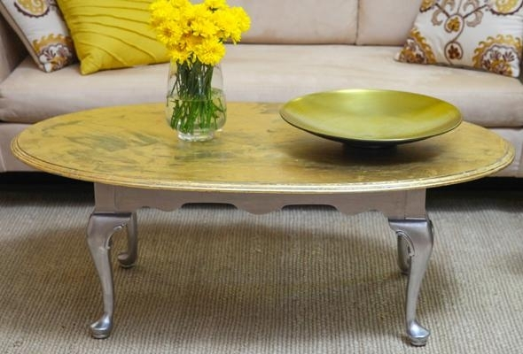 Diy Gold Leaf Coffee Table – P&g Everyday | P&g Everyday United Within Gold Leaf Collection Coffee Tables (View 13 of 40)