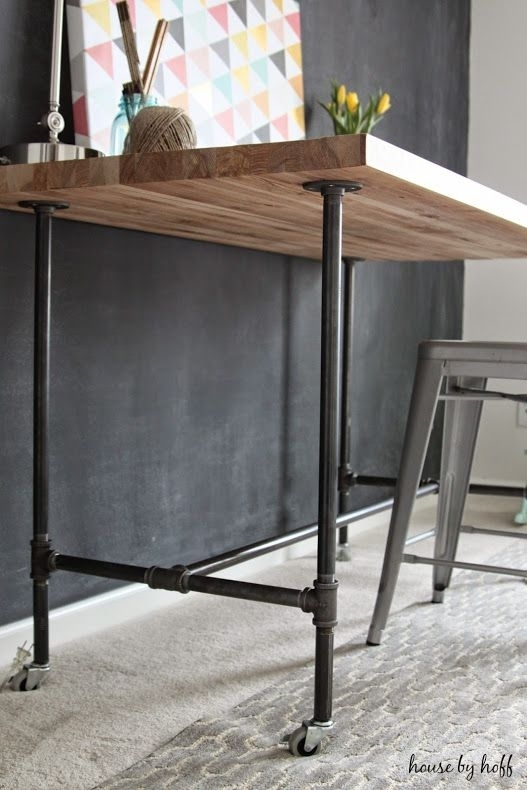 Diy Piping Table | Projects To Try | Pinterest | Diy Desk, Diy And House For Pine Metal Tube Coffee Tables (Image 13 of 40)