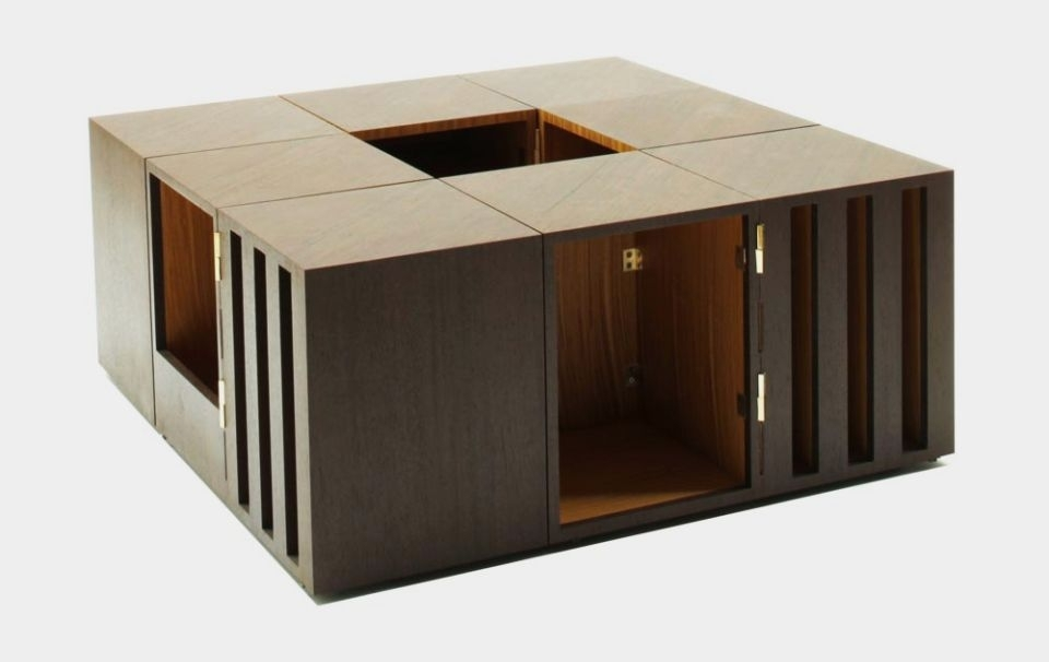 Double Sens: Modular Coffee Table With Moveable Storage Blocks In Modular Coffee Tables (View 40 of 40)