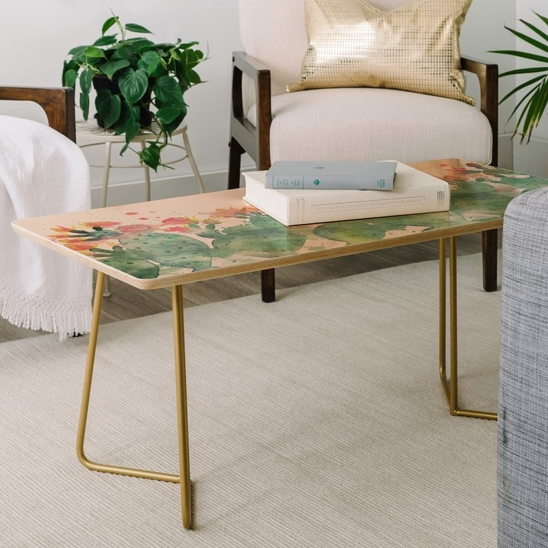 East Urban Home Dash And Ash Messy Cactus Coffee Table | Wayfair Intended For Cacti Brass Coffee Tables (Image 21 of 40)