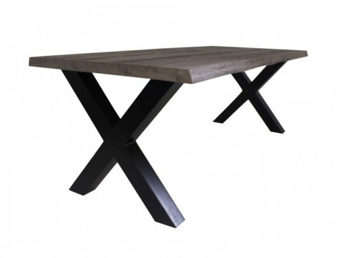 Eettafel Tube 240X100Cm Metal/pine – Factoryhouse With Regard To Pine Metal Tube Coffee Tables (Photo 22 of 40)