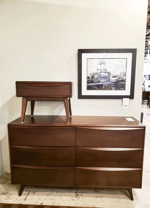 Eko 6 Drawer Dresser, Walnut Finish – Direct Furniture Outlet Within Walnut Finish 6 Drawer Coffee Tables (View 21 of 40)