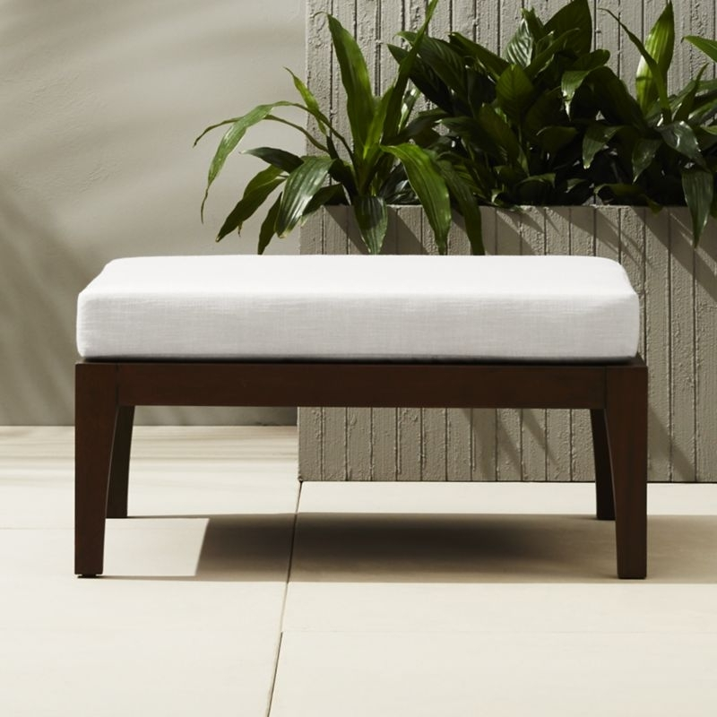 Elba Outdoor Ottoman Coffee Table + Reviews | Cb2 Inside Elba Ottoman Coffee Tables (Photo 1 of 40)