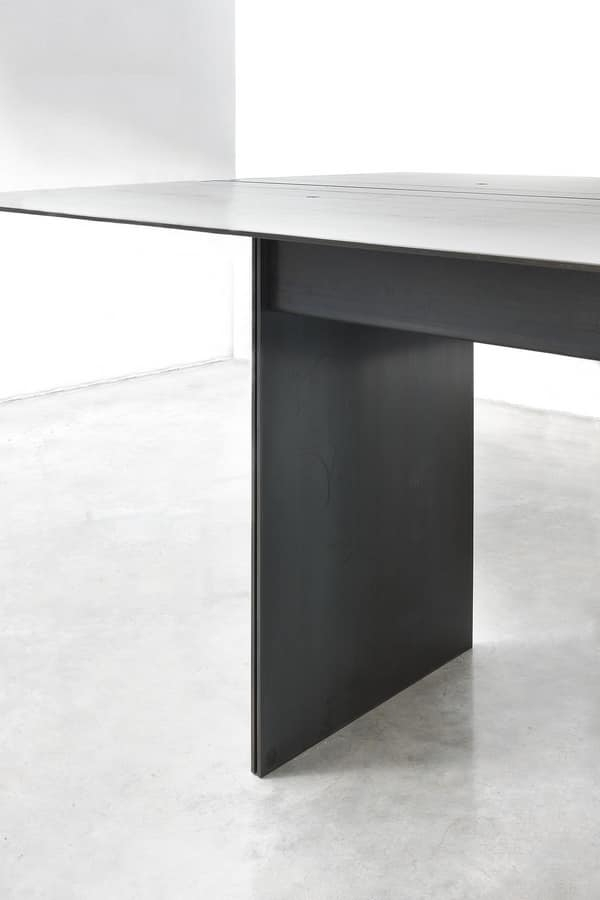 Elegant Table, In Metal Coated Wax | Idfdesign For Waxed Metal Coffee Tables (Photo 17 of 40)